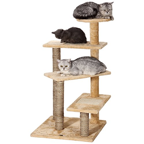 Ollieroo 40 h multi level kitten cat tree furniture for Cat tree steps