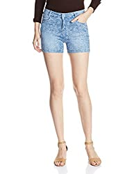 X'pose Women's Shorts (5522SHORTS28W1_Light Blue)