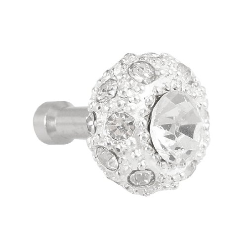 Bling Clear Crystal 3.5Mm Earphone Plug Stopper For Iphone 4 4S
