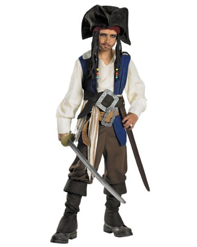 Deluxe Captain Jack Sparrow Costume - Large