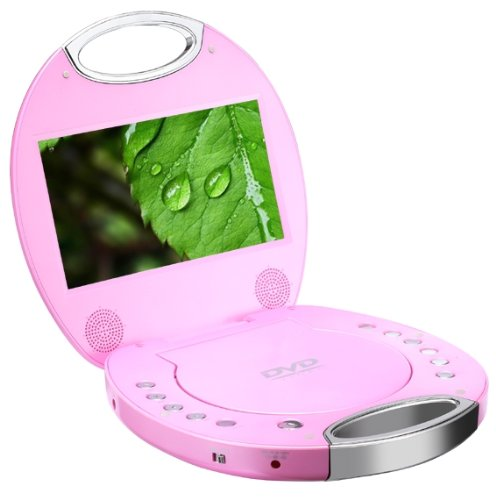 sylvania sdvd7046 7 inch portable dvd player with integrated handle pink ebay. Black Bedroom Furniture Sets. Home Design Ideas