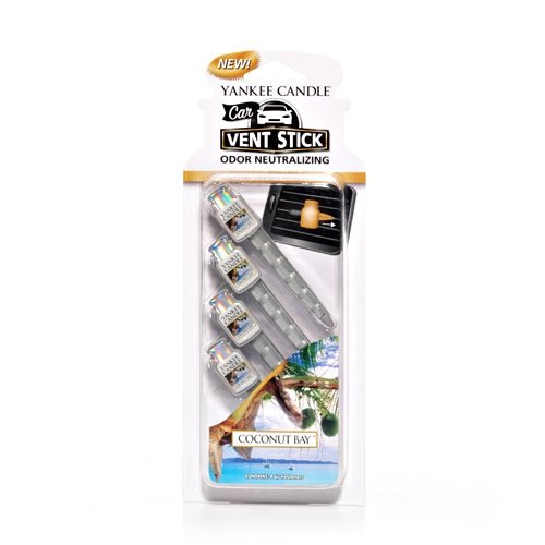 Yankee Candle Coconut Bay Car Vent Sticks (Pack of 4)