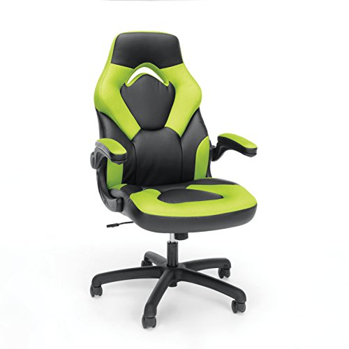 essentials-racing-style-leather-gaming-chair-ergonomic-swivel-computer-office-or-gaming-chair-green-