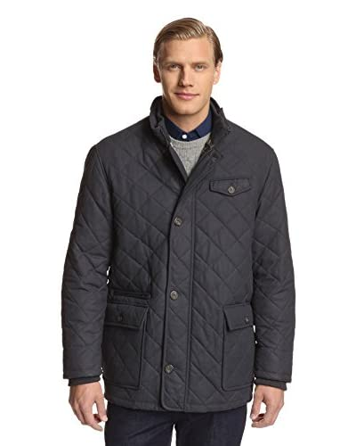 J. McLaughlin Men's Charles Quilted Waxed Canvas Jacket