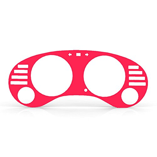 Pink Fluorescent Gauge Cluster Dash Bezel Trim fits: 1995-1999 Mitsubishi Eclipse Manual Transmission - Ferreus Industries - BZL-180-Pink-Fluorescent-053-02 (Pink Dash Cover Eclipse compare prices)