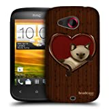 Head Case Cat In A Heart Wood Craft Design Hard Back Case Cover For Htc Desire C