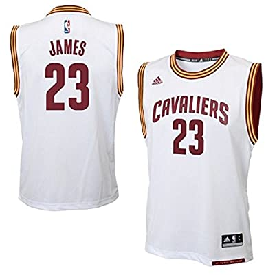 Lebron James Cleveland Cavaliers NBA Adidas Men's Replica Jersey - White