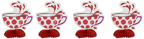 Unique Party 49509 - Mini Decorazioni Tea Party Cappellaio Matto, Confezione da 4