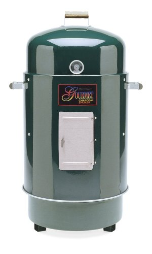 Brinkmann 852-7080-6 Gourmet Charcoal Smoker and Grill, Green