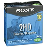 """Sony 3.5"""" HD Formatted Diskettes (Pack of 10)"""