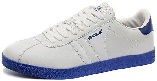 Gola Amhurst White/Blue Mens Sneakers, Size 42