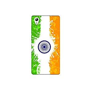 vivo Y51L nkt09 (20) Mobile Case by Mott2 - Indian Flag Paint (Limited Time Offers,Please Check the Details Below)