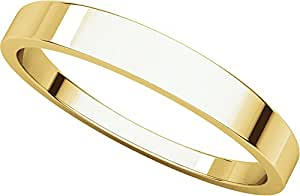 14ct Yellow Gold, Flat Tapered Wedding Band 3MM (sz L)