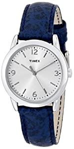 Timex Women's T2P2449J Analog Display Analog Quartz Blue Watch