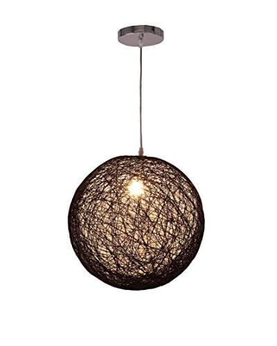 International Designs Rondure Ceiling Light, Black/White