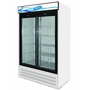 sliding glass door refrigerator 2 doors and 8 shelves 45
