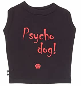 K9 Psycho Dog T-shirt In Tin, Black, Large