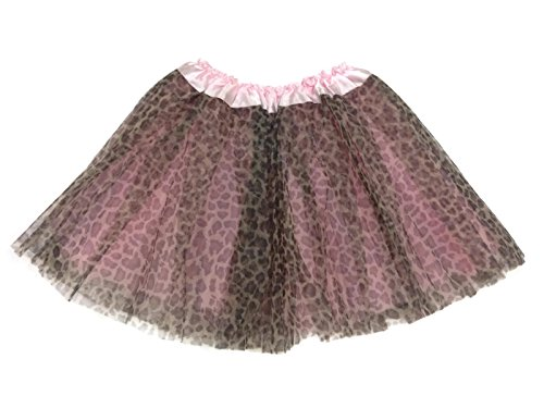 Rush Dance Ballerina Girls Dress-Up Princess Fairy Costume Recital Tutu (Kids 3-8 Years, Pink Leopard) - 1