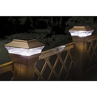 Kingfisher Solar Powered LED Self Charging Lights for Garden Patio Backyard