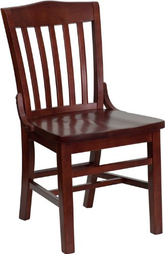 HERCULES Series Mahogany Finished School House Back Wooden Restaurant Chair (Wooden Restaurant Chair compare prices)