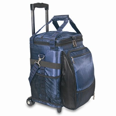 45 Can Avalanche Rolling Picnic Cooler Color: Navy with Plaid (Picnic Time Rolling Cooler compare prices)