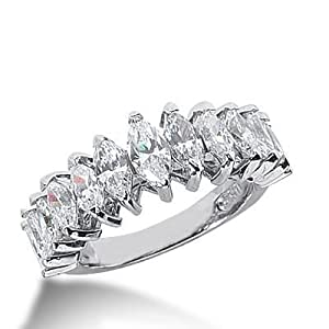 diamond wedding ring 6 marquise cut ct 4 marquise cut