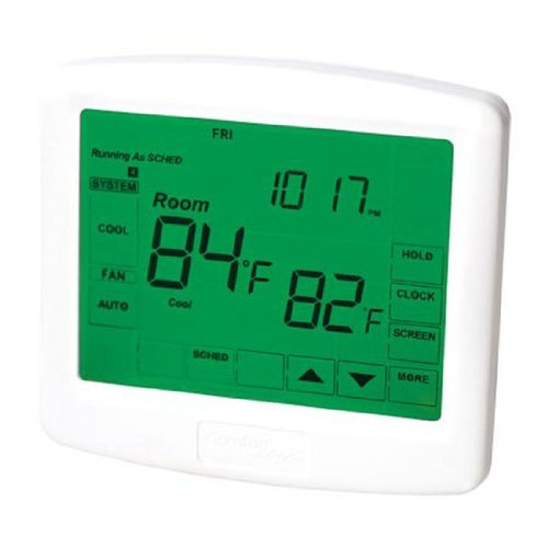 Ez-Flo 77048 Digital Programmable Touch-screen Thermostat 3 Heat / 2 Cool (Ez Heat Thermostat compare prices)