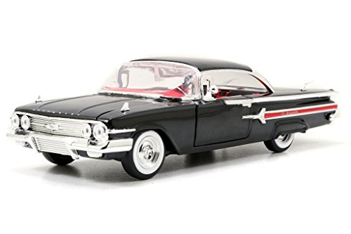 Jada Toys Garage Worx '60 Chevy Impala 1:24 Scale Model Kit, Black (1 24 Custom Wheels compare prices)