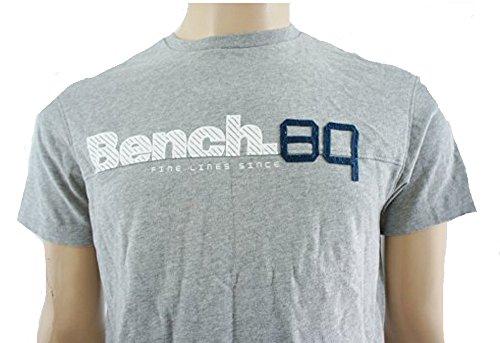 Panca Grigio Graphic a maniche corte in cotone T Shirt, Taglia S [Abbigliamento] Grey Small