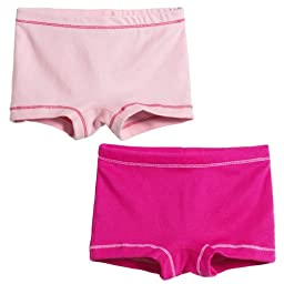 City Threads Girls\' 2-Pack BoyShorts Perfect for Sensitive Skin SPD Sensory Friendly Clothing For School Play and Under Dresses Bike and Dance Shorts Perfect for Sensitive Skin SPD Sensory Friendly Clothing For School Play and Under Dresses, Pink/Hot Pink