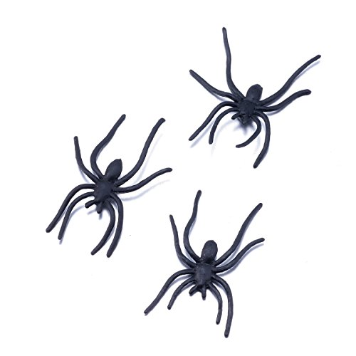 funlavie-lot-of-100-pcs-artificial-spiders-creepy-realistic-party-favors-joke-trick-toy-halloween-pr