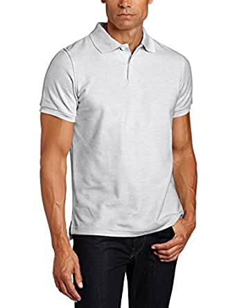 Lee Uniforms Men's Short Sleeve Polo, Heather Grey, Small