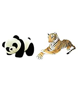 DEALS INDIA Deals India Panda Soft Toy and Brown stuffed tiger animal combo