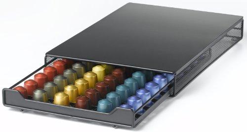 네스프레소 캡슐 보관함 Nifty Nespresso Capsule Drawer - Holds 60 Nespresso Capsules, Black