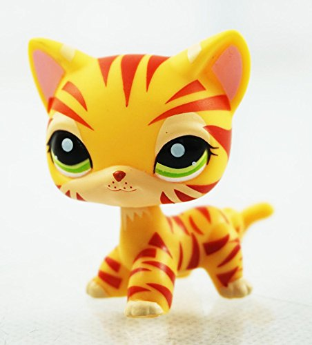 Littlest Pet Shop LPS Toy #1451 Girl toys Kitten Kitty Rare Orange Tiger Cat