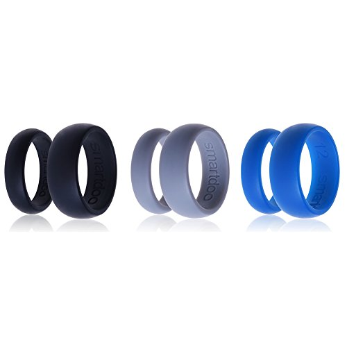Silicone Wedding Ring Smartdoo Wedding Band? 3 Ring Pack ?for Men Women ?Flexible Comfort Sport ...