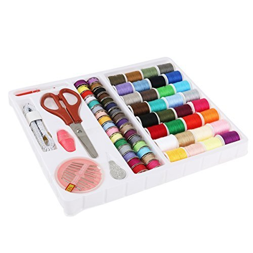 Foxnovo 100-in-1 Essential Sewing Tools Kit Needlework Box Set for Domestic Sewing Machine Sewing Kit Thread Needle Tape Scissor Thimble Set (Sewing Machine Thread Kit compare prices)