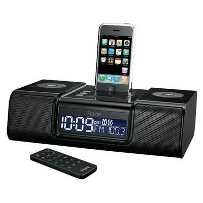 SDI iHome Dual Alarm for Apple iPhone,iPod (Black)