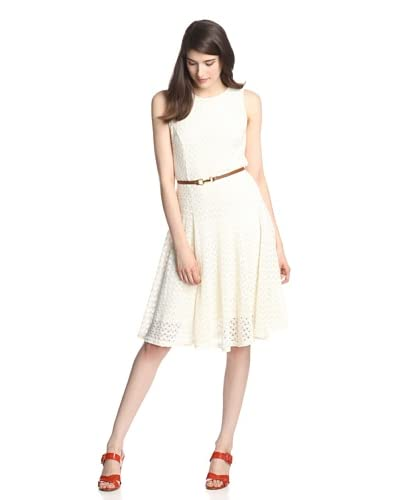 Sharagano Women's Crochet Dress  [Ivory]
