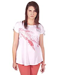 Chlorophile Women's Tunic (Scr_Coral White_10)