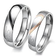 KONOV Jewelry Mens Womens Heart Stain…