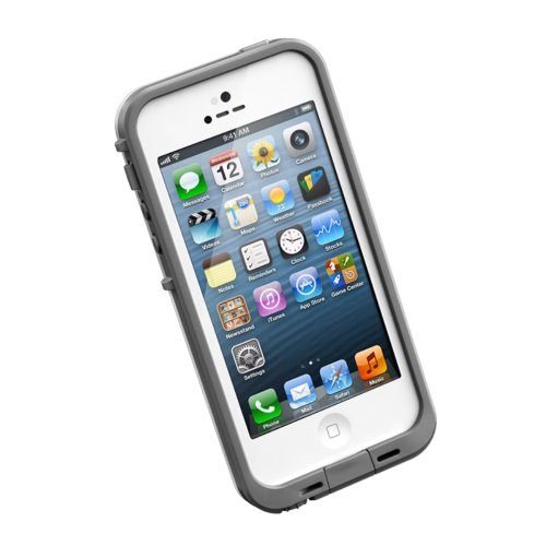 Lifeproof Fre Series Case For Iphone 5 - Retail Packaging - White/Gray