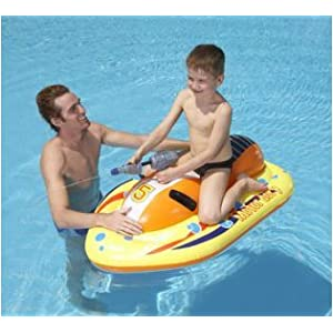 47 x 29 Inflatable Kids Floating Pool Motorbike with Built in Water Gun – An Amazon.com Exclusive