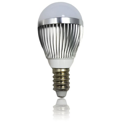 Zono® Silver Shell Ac 85-265V E14 Base 6Pcs 5730 3W Led Light Lamp Bulb With Opal Cover Dimmable