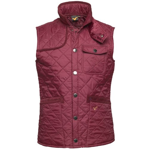 Voi Jeans Mens Pacemaker Quilted Gilet Burgundy