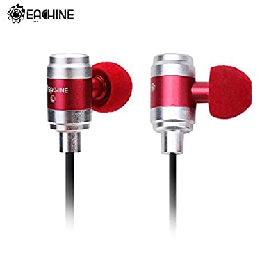 Eachine E80 In Ear Earbuds Hybrid Iron Bass Stereo Headphone Earphone Headset Red, AptX for iPhone 6, 6 Plus, 5 5C 5S 4S iPad, LG G2, Samsung Galaxy S5 S4 S3 Note 3 and Other Android Cell Phones