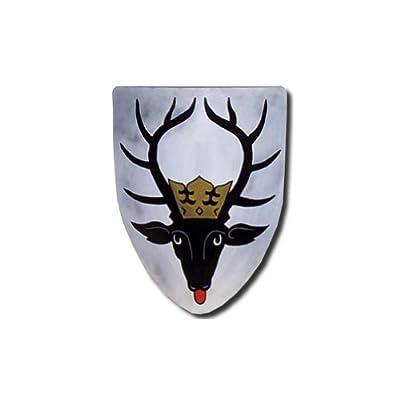 Deer Medieval Shield - 16 Gauge Steel Battle Ready - White - One Size