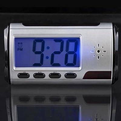 Hd Video DVR Digital Alarm Clock Nanny Camera Recorder Motion Detector Dv Black