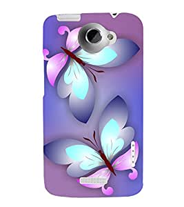 printtech Butterfly Abstract Back Case Cover for HTC One X