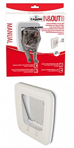 Camon porticina manuale In & Out a 4 vie per gatti in colore bianco